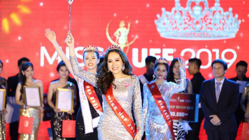 Phan Ngọc Quý đạt danh hiệu Hoa khôi Miss UEF