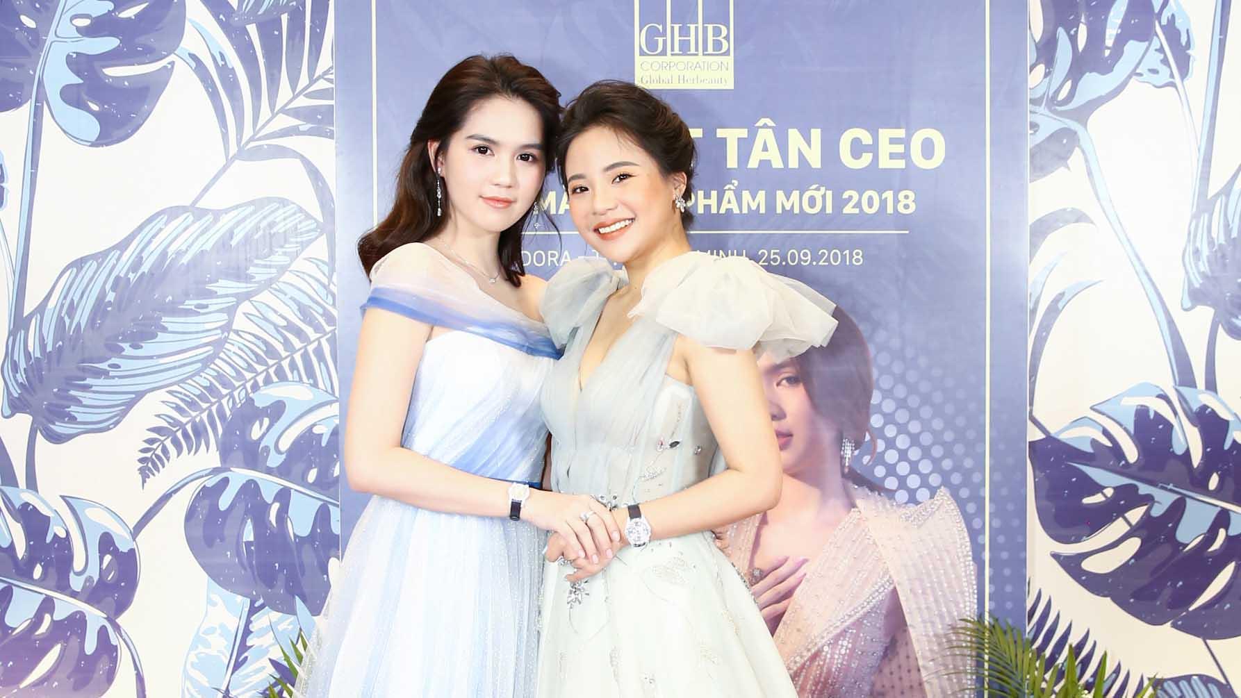 Ngọc Trinh xinh lung linh trong ngày ra mắt tân CEO GHB Corporation