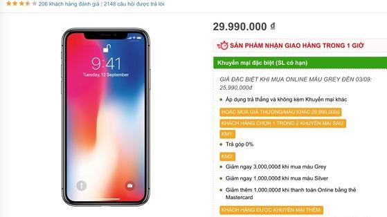 iPhone X bất ngờ giảm sốc 4 triệu đồng