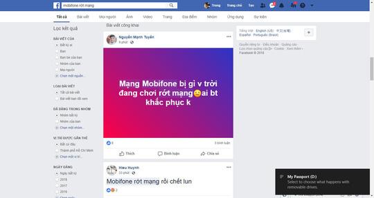 MobiFone bị sập mạng tại khu vực TP HCM, Hà Nội