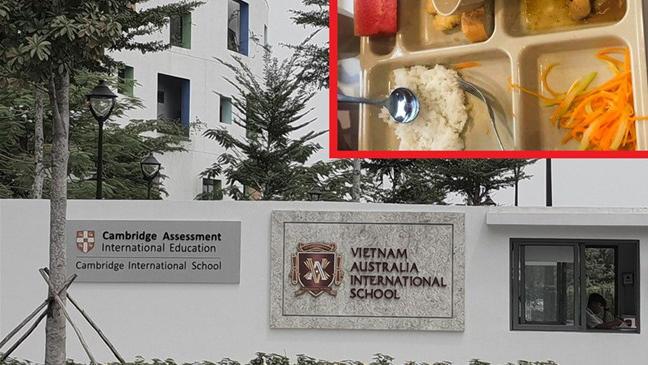 Sở Giáo dục Đào tạo nói gì khi Trường Dân lập Quốc tế Việt Úc bớt phần ăn của học sinh?